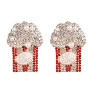 ( white) flower ear stud personality creative exaggerating earrings occidental style woman