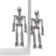 (White Diamond )occidental style Alloy diamond earrings unique fashion trend arring