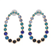 ( blue)UR creative gradual change color earrings color ear stud Earring