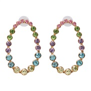 ( Color)UR creative gradual change color earrings color ear stud arring