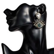 ( white)occidental style exaggerating Acrylic diamond eyes earrings woman retro temperament ear studearrings