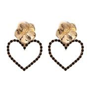 ( black)UR Alloy flowers earrings occidental style lady love earring Pearl