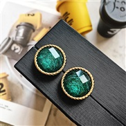 ( green)silver high ear stud woman earrings retro arring samll elegant all-Purpose