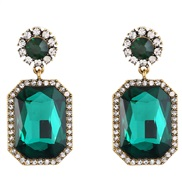 (SN  H+White Diamond ) palace retro luxurious fully-jewelled drop woman ear stud temperament sweet woman earrings