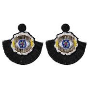 ( black)UR handmade beads earrings personality ethnic style tassel earring occidental style arring
