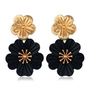 occidental style fashion Metal flowers personality temperament ear stud