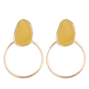 fine  Korean style fashion sweetOL  concise circle personality temperament ear stud
