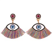 ( Color)occidental style retro trend fashion big eyes tassel earrings