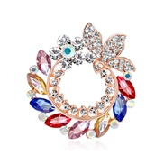 (AH A)Korea high-end environmental Alloy flowers brooch  Rhinestone diamond brooch scarves buckle two  apparel