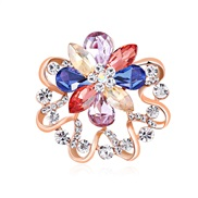 (AH B)Korean style two scarves buckle   high-end diamond color petal  temperament lady brooch flower