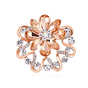 (AH C)Korean style two scarves buckle   high-end diamond color petal  temperament lady brooch flower