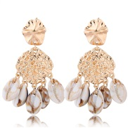 occidental style fashion  Metal concise temperament exaggerating personality ear stud