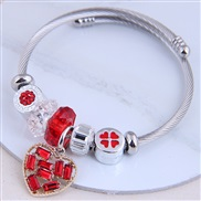 occidental style fashion  Metal all-PurposeDL concise all-Purpose bright love accessories personality bangle