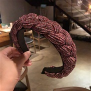 (color +red ) occidental style Cloth weave eadband twisted eadband width creative lady head