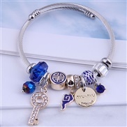 occidental style fashion  Metal all-PurposeDL concise all-Purpose love more elements accessories personality bangle