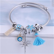 occidental style fashion  Metal all-PurposeDL concise all-Purpose eyes tassel gold more elements accessories pers