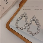 ( Silver needle  Silver)silver fully-jewelled drop earrings occidental style exaggerating temperament fashion earring br
