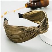 ( Gold) eadband Korea high-end Cloth surface pure color eadband Korean style