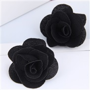 occidental style fashion Country style concise Cloth rose temperament ear stud