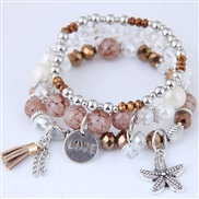 occidental style fashion  Metal starfish all-Purpose multilayer woman  bracelet