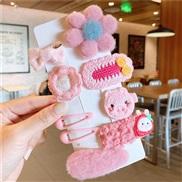 (   light pink Suit )U woman head Korean style fruits set children hair clip