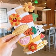 (  Suit )U woman head Korean style fruits set children hair clip