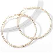 ( Gold)super claw chain series exaggerating Alloy diamond row Rhinestone circle occidental style earrings womanearrings