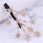 occidental style fashion Metal flash diamond hair clip Korea woman hair clip