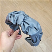 ( gray)occidental style fashion temperament Headband retro pure coloru cortex Headband brief flower style woman
