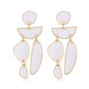 occidental style fashion  Metal color geometry Modeling temperament exaggerating ear stud