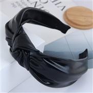 occidental style fashion colorPU concise medium Headband woman Headband Headband