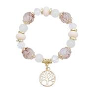 ( white)new trend beads multilayer bracelet Bohemian style Shells crystal bangle set