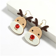 occidental styleins personality velvet cartoon christmas deer Alloy christmas christmas earrings womanhritmas