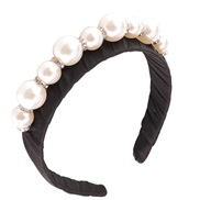 ( blackPearl )occidental style Pearl Rhinestone eadband big samll Pearl eadband temperament Cloth handmade beads