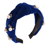 ( bluePearl )occidental style retro velvet Pearl eadbandins fashion temperament width