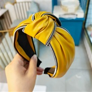 ( yellow)occidental style wind fashion Headband all-Purpose cortex width medium Headband retro wind women head
