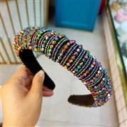( Dazzle B Style)occidental style fashion crystal beads eadband head women all-Purpose beads weave eadband