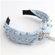 ( blue)occidental style large pieces Alloy half super eadband woman super style