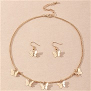 (SZ jinse) occidental style ins temperament butterfly necklace set  small fresh butterfly earrings necklace set