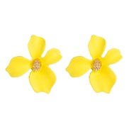 ( yellow)occidental style exaggerating arring  fashion temperament flowers earrings  Alloy small fresh petal ear stud pe