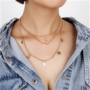 occidental style Alloy necklace woman love star pendant clavicle chainnecklace