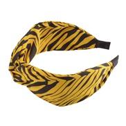 ( yellow)occidental style floral chain eadband width Stripe Irregular geometry print eadband