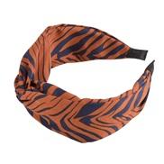 ( Dull red)occidental style floral chain eadband width Stripe Irregular geometry print eadband