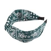 ( green)occidental style floral chain eadband width Stripe Irregular geometry print eadband