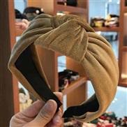 Korean style fashion pure color Korean style brief pure color medium width Headband Headband head buckle lady