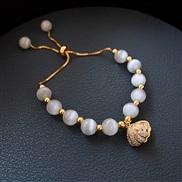 ( Bracelet) gold Opal Korea fashion all-Purpose Shells natural Pearl bracelet woman