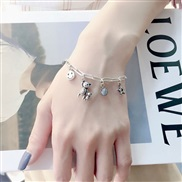 S occidental style fashion retro concise more elements pendant personality woman bracelet