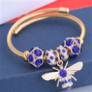 occidental style fashion  Metal all-PurposeD concise flash diamond pendant more elements personality bangle