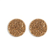 ( yellow) fashion fully-jewelled ear stud aub same style temperament brilliant Round earrings woman