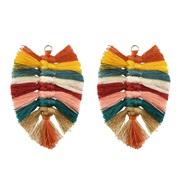 ( Color)handmade weaveDIY earrings fitting  Bohemia fashion Street Snap